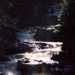 Cullasaja Falls dawn closeup